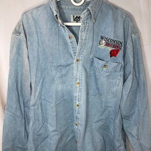 Wisconsin 200 rose bowl button down large